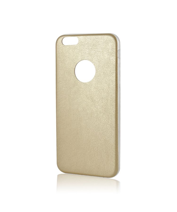 Husa iPhone 6/6S Lemontti Silicon Hybrid Auriu (ultraslim)